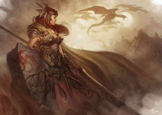 640x457_6036_Dragon_hunter_2d_dragon_hunter_fantasy_girl_woman_warrior_picture_image_digital_art