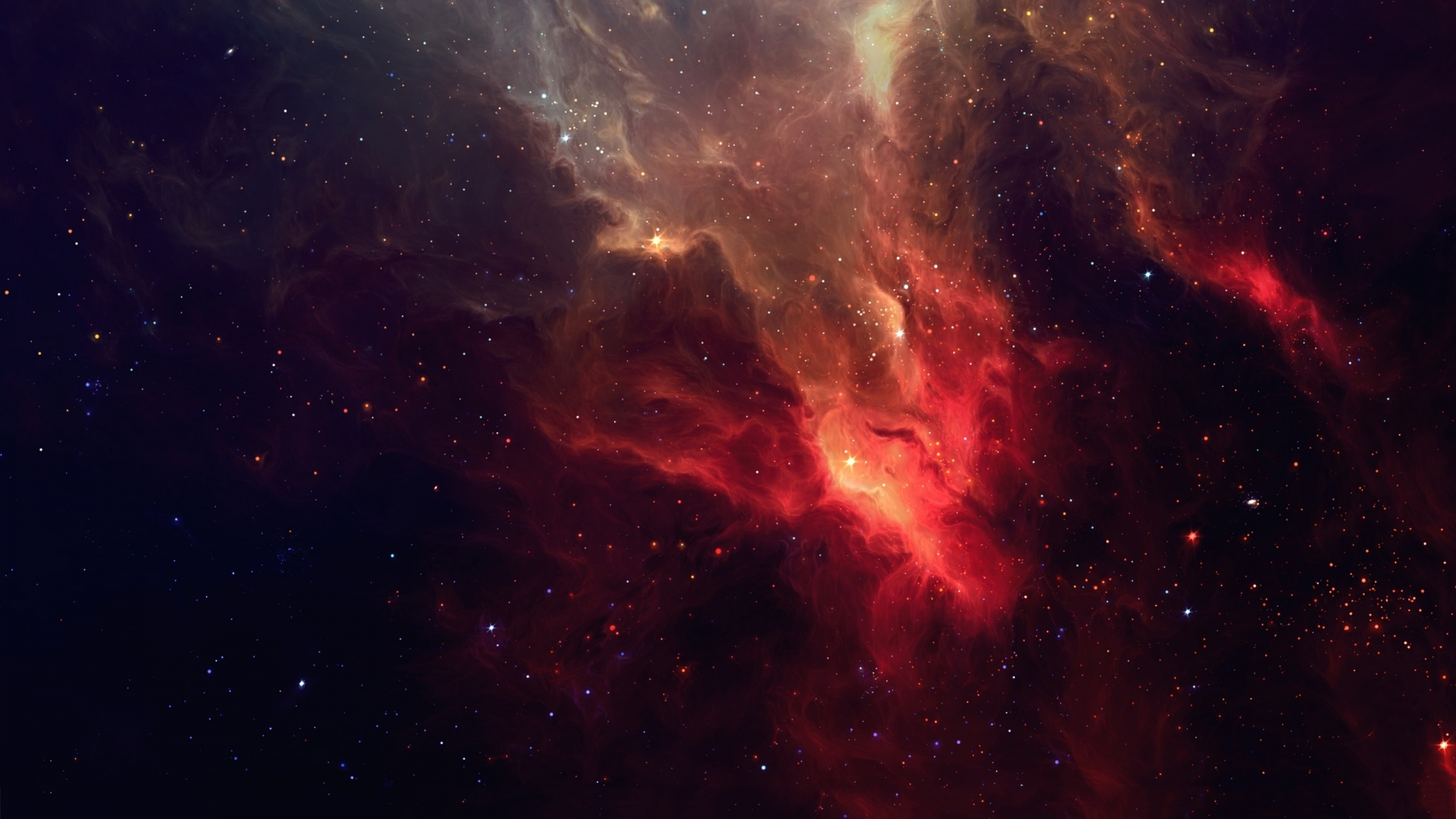 Black Red White Purple Space Abstract Nebula Alyson